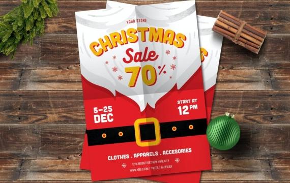 圣诞大特卖圣诞老人海报