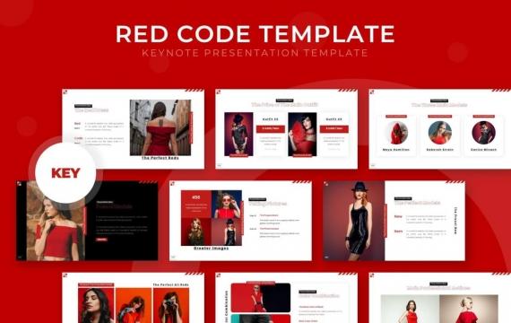 红色国外高端商务企业团队介绍展示项目推广商务多用途PPT模板