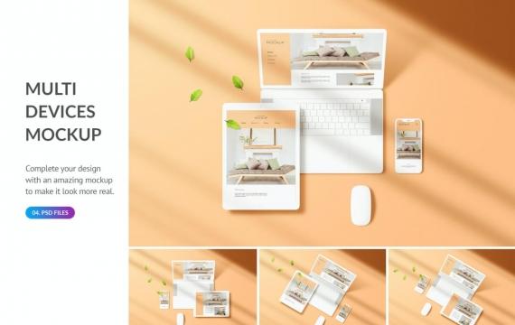苹果多设备屏幕样机素材下载