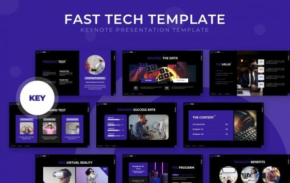 国外扁平化企业宣传VR虚拟技术介绍商务通用keynote模板
