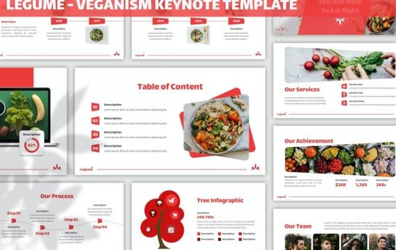 豆类-蔬菜果蔬介绍美食行业市场调研分析keynote模板下载