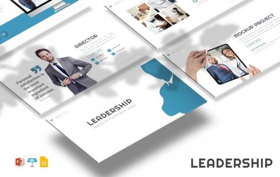 企业领导人介绍年终工作计划总结PPT模板