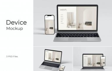 苹果笔记本电脑iPhone设备样机素材下载