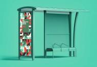 巴士站广告海报模型样机
