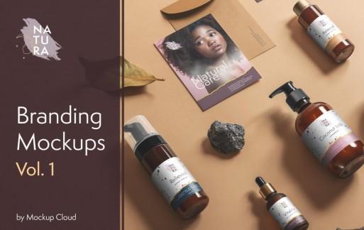 Natura –化妆品品牌瓶子样机