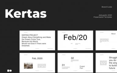 Kertas-极简时尚流行风格keynote模板下载