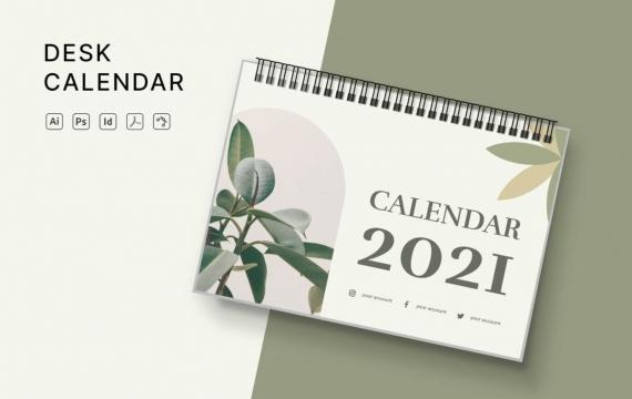 2021年日历素材模板