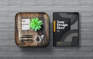 Tablet Pro平板和名片样机