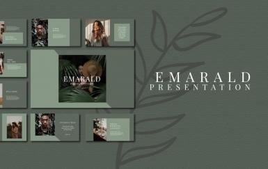 Emarald-主题演讲深色keynote模板