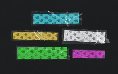塑料透明胶条胶带样机