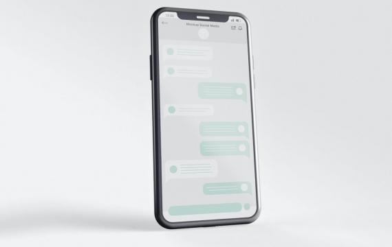 屏幕样机的iPhone 12智能手机样机