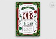 圣诞平安夜传单海报模板下载