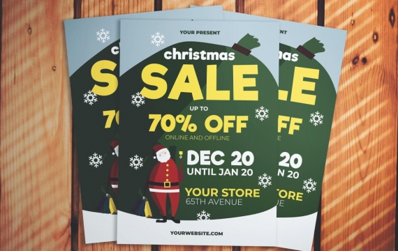 圣诞节圣诞老人海报传单