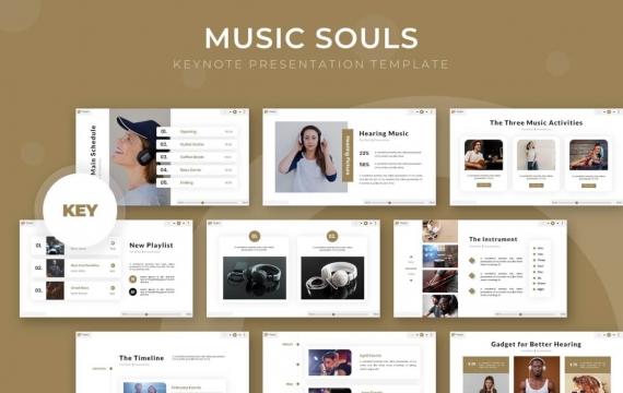 音乐之魂-主题演讲keynote模板