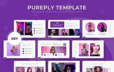 Pureply-紫色商务团队介绍工作总结计划多用途PPT模板