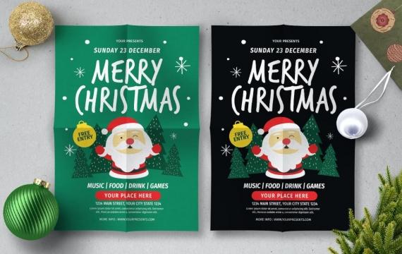 圣诞传单圣诞老人海报