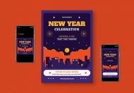 新年庆典矢量插画素材下载