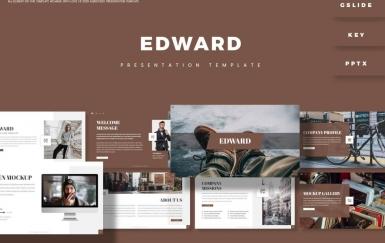 爱德华-欧美风旅游摄影PowerPoint模板