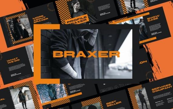 Braxer红黑主题演讲模板