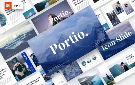 Portio-摄影PowerPoint模板