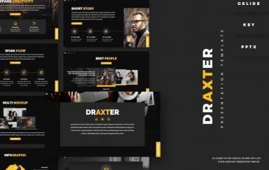 Draxter-时尚黑色摄影PowerPoint模板