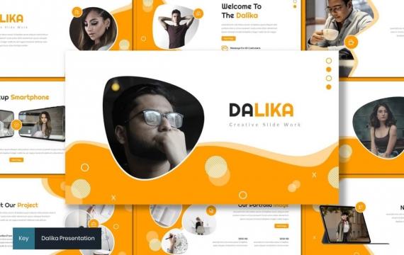 Dalika-创意主题演讲橙色keynote模板