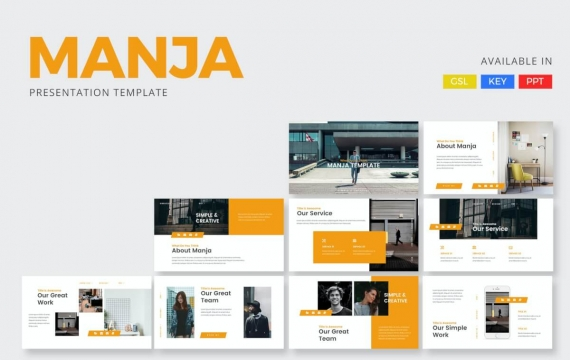 Manja-公司介绍PowerPoint模板