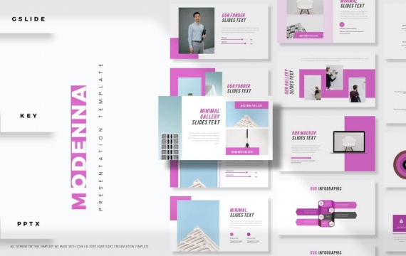 Modenna-演示紫色PowerPoint模板