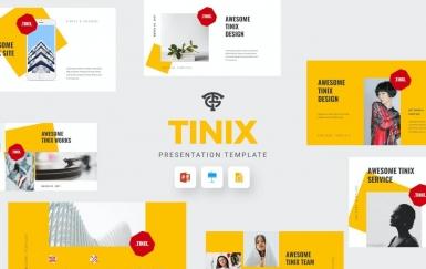 Tinix-极简风格PowerPoint模板