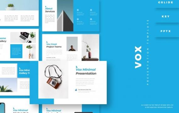 Vox-演示蓝色简约PowerPoint模板
