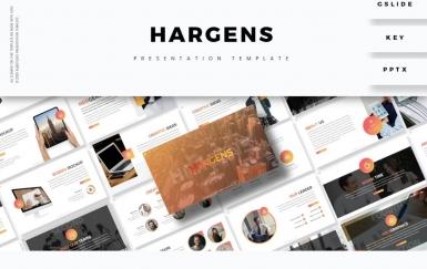 Hargens-简约大气团队建设PowerPoint模板