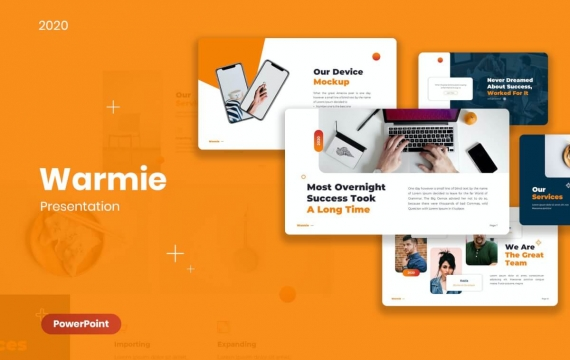 简洁风格商务PowerPoint模板