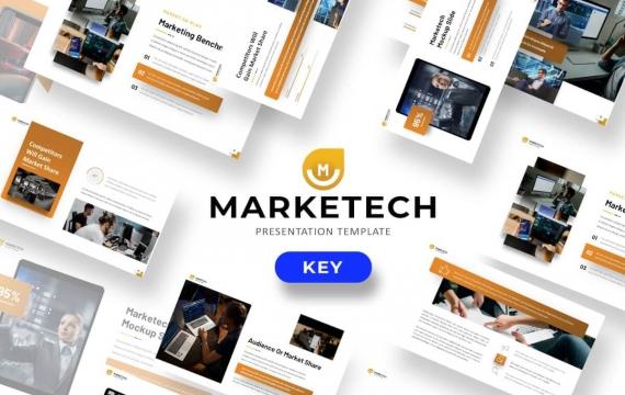 Marketech-业务主题演讲模板