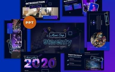 9Twenty-音乐工业PowerPoint模板
