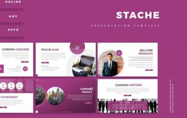 Stache-演示紫色PowerPoint模板