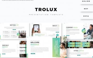 Trolux-简约大气团队建设PowerPoint模板