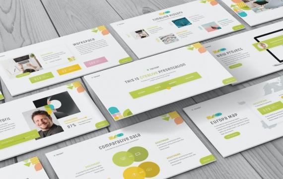 Twister-几何PowerPoint模板