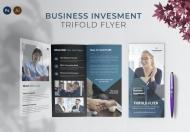 商业投资金融三折页模板