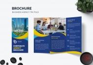 商业宣传册业务代理三折页模板