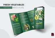 绿色新鲜蔬菜宣传三折页设计模板