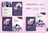 创意网络研讨会二折页设计模板