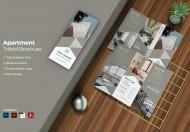 公寓房地产大气三折页设计模板