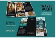 旅游攻略旅行社宣传三折页设计模板