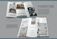 现代简约风格家具三折页设计模板