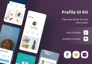创意设计的个人作品展示app ui界面设计模板