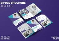 医疗行业公司介绍二折页设计模板