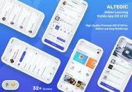 Altegic-在线学习移动应用程序用户界面