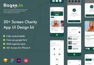 Bagee.in-慈善应用UI套件慈善应用概念APP设计