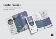 数码商业宣传三折页模板