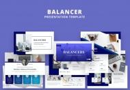 Balancer-蓝色简约大气公司介绍简介PPT模板